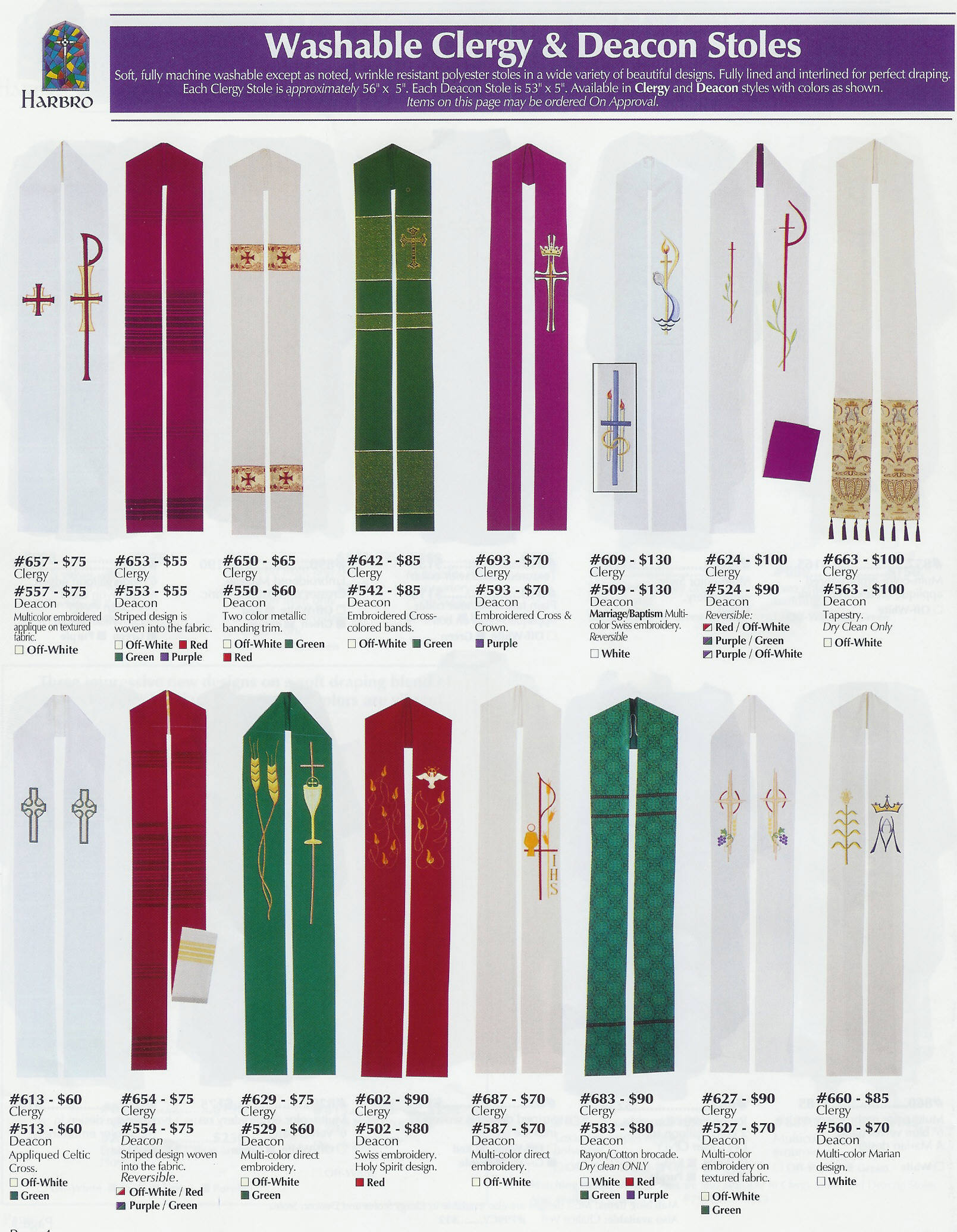 Vestments from Harbro